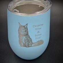Kitty Cat Wine Glass