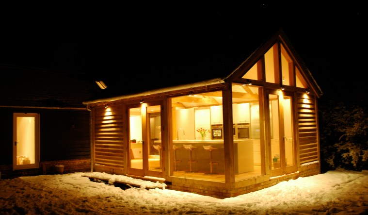 A beautifully lit modern barn conversion