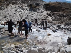 Solukhumbu Trek April/May 2016 - Crossing the river