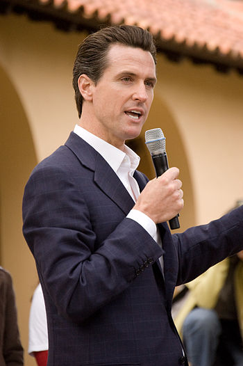 English: San Francisco mayor Gavin Newsom at S...