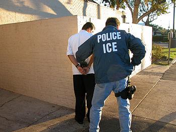 US Immigration and Customs Enforcement arrest