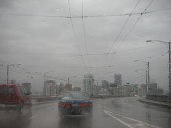 Vancouver on a rainy day