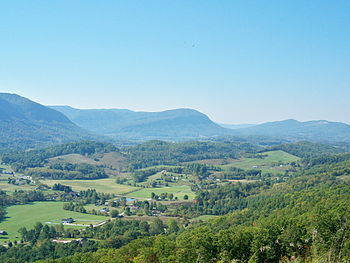 English: Powell Valley, as viewed from Benges ...