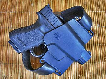 English: Holster for Glock pistol Svenska: Höl...