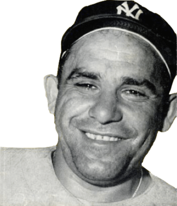English: New York Yankees catcher Yogi Berra i...