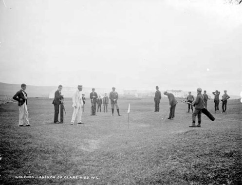 Golfing, Lahinch, Clare.