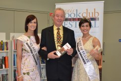 Cllr James Breen Deputy Mayor of Ennis Municipal District pictured (centre) with Clare Rose Joanne O'Gorman and Rose of Tralee Maria Walsh. Credit Catherine O'Hara