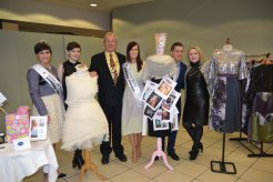 Rose of Tralee Maria Walsh, Clare DesignerNatalie King, Cllr James Breen Deputy Mayor Municipal District of Ennis, Joanne O Gorman Clare Rose, Ciarán O Connell International Rose of Tralee and Tess Purcell Co-ordinator of Ennis Fashion Week 2015. Credit Catherine O'Hara