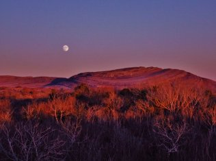 Full Moon rising over Mullach Mor (Mullaghmore) in The Burren, Co. Clare. Pic Patricia Robertson