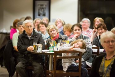 Some of the crowd at the official opening of the Ennis Book Club Festival this weekend. Photograph by Eamon Ward