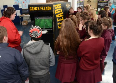 Students enjoying the Gaming competitions at Games Fleadh 2015 in LIT Thurles. Pic by Andrew Shakespeare