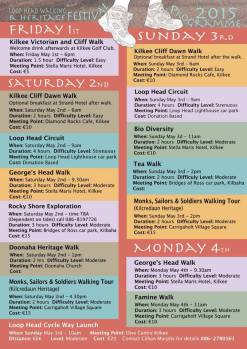 Walking Schedule 2015