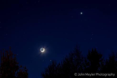 Moon and Venus over Shannon. Pic John Meyler Photography