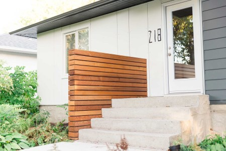 Winnipeg Siding with cedar partition