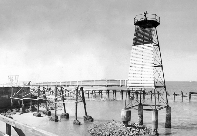 Fort Sumter Range Lighthouse South Carolina At