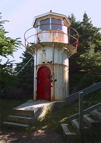 Cow Head Lighthouse Newfoundland Canada At