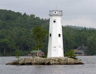Loon Island Lighthouse New Hampshire At Lighthousefriends Com