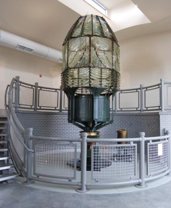 Fire Island Lighthouse lens, 2012, copyright Candace Clifford