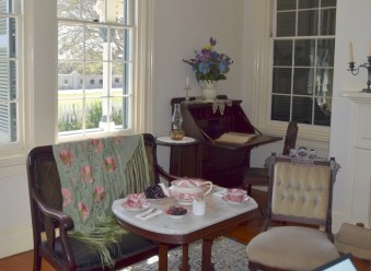 Front parlor at Point Fermin Lighthouse. The station is now a museum run by the City of Los Angeles.