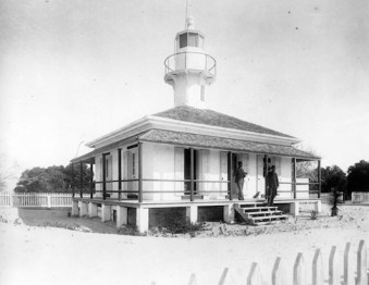 Completed in 1854 Seahorse Key Lighthouse was designed and constructed under the district lighthouse engineer Lt. George Meade of the U.S. Army Topographical Engineers. (National Archives photo)