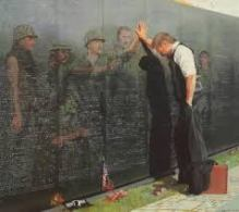 the wall with a soldier who returned home and those who didn't