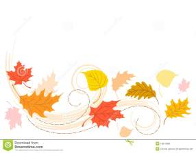 colorful illustration of leaves blowing