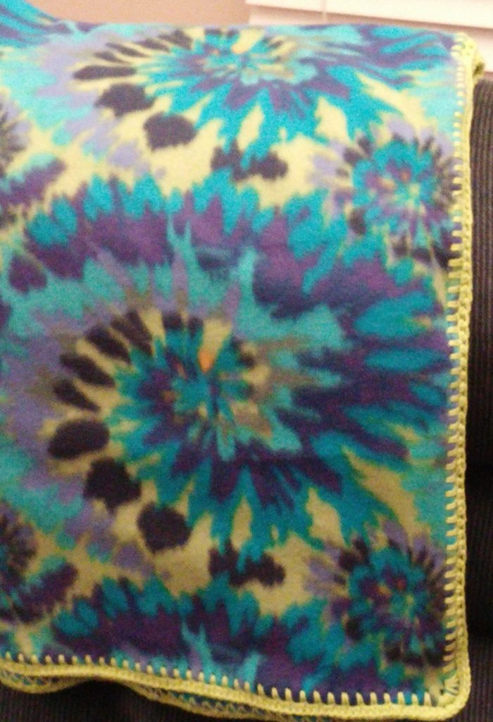 Cool Colors Tie Dye Blanket