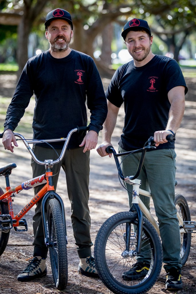 Lighthouse Youth Projects Co-Founders Jamie Moore and Ryan Lloyd at City Dirt.