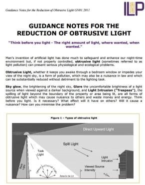ILP Obtrusive Light