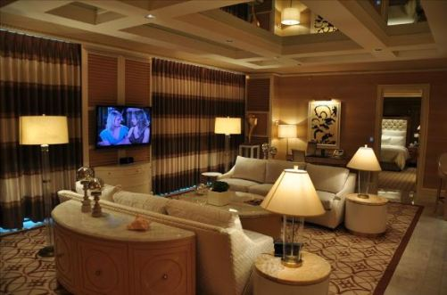 When Guests Are Relaxing The Lighting Controls Provide Three Levels Of Intensity Shown Above Is Set At High In Living Room