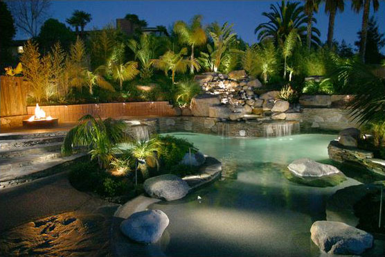 Lighting distinctions landscape lighting residence outside lighting home exterior pool water workwithnaturefo