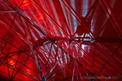 The roof of the foyer of the Helmut List Halle during Steirischer Herbst 2013. Design by Madame Offenhauser and myself.