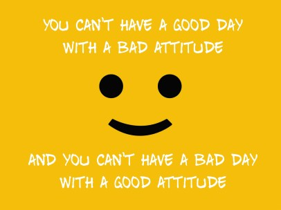 Sometimes you have a bad day sometimes a good day.