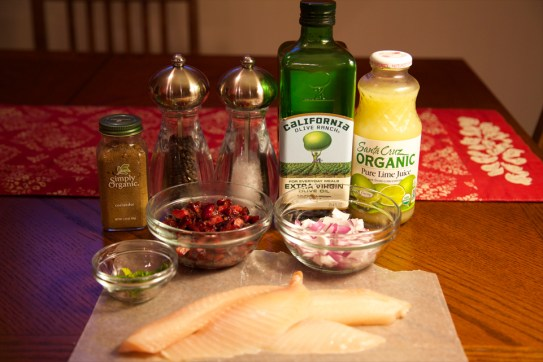 Ingredients for Seared Tilapia with Cherry Salsa