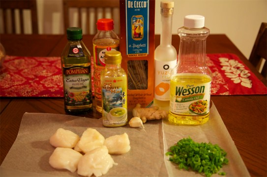 Miso-Glazed Scallops with Noodles Ingredients