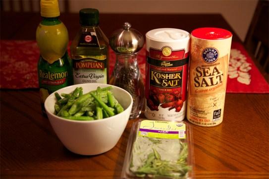 Provençal Green Beans with Lemon-Pepper Oil and Herbed Sea Salt ingredients