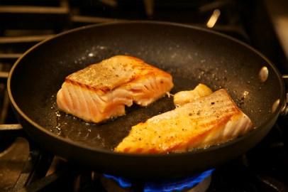 Step 3: Sear salmon
