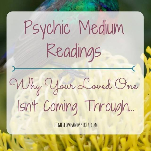 Have you had a reading with a medium wherehellip