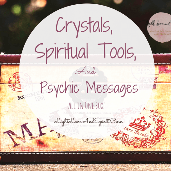 Crystals, Spiritual Tools, And Psychic Messages. Everything In One Box!
