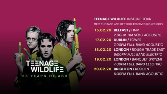 Teenage Wildlife Instores & New Single
