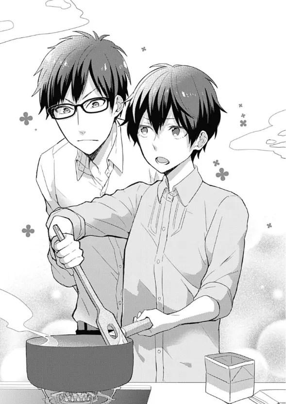Noda and Mizuhara in the Kitchen
