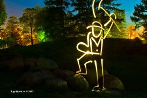 Lightpaint (фризлайт) - камень