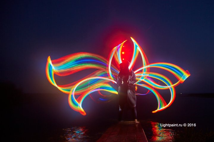Lightpainting Russia lake Plesheevo
