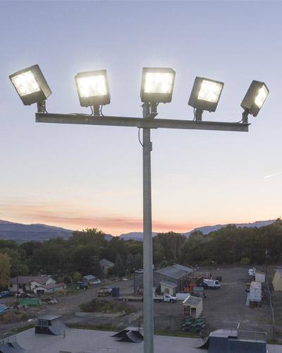 parking lot lighting poles fixtures