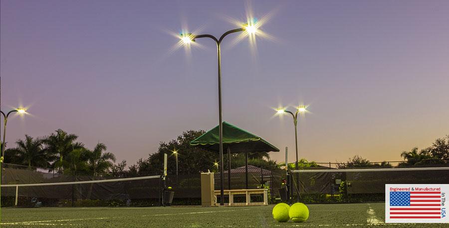 indoor outdoor tennis court lighting