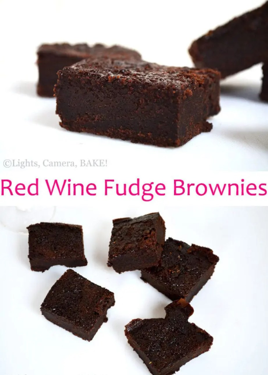 Red Wine Fudge Brownies. Super rich, chocolate, fudgy brownies spiked with red wine! This is for all the red wine fans and a great dessert for special occasions. #redwinebrownies #fudgebrownies #redwinedessert
