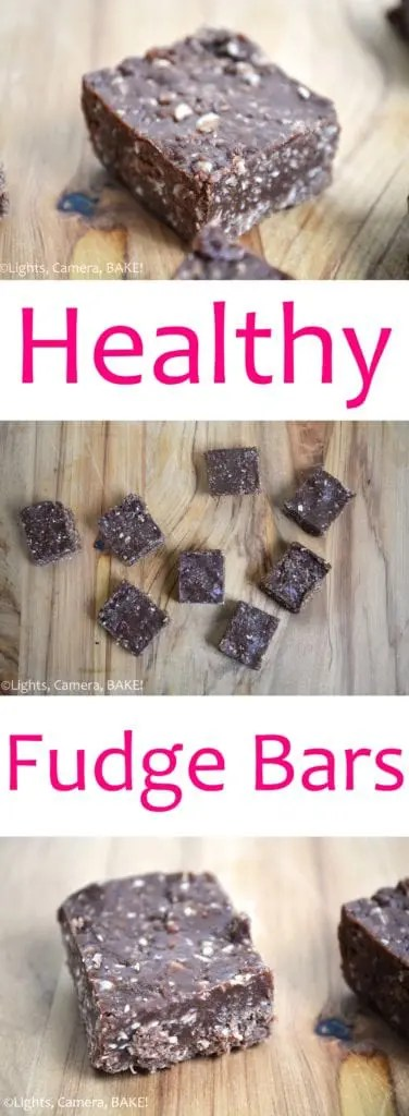 Healthy Fudge Bars. These are wheat free, refined sugar free and vegan. They are a rich chocolate fudge that doesn't taste healthy in the slightest. #healthyfudge #healthychocolatefudge #veganfudge