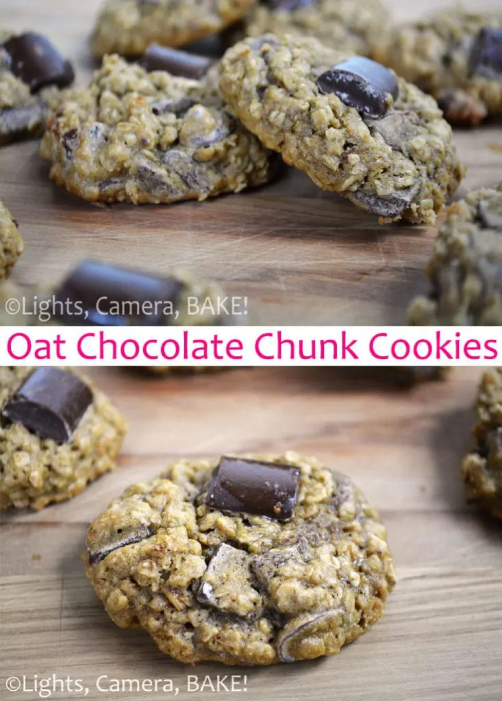 These Chocolate Chip Oat Cookies are soft and chewy chocolate chip cookies with a lovely texture and added flavour from the oats.  #oatchocolatechipcookies #oatcookies #chocolatechipcookies