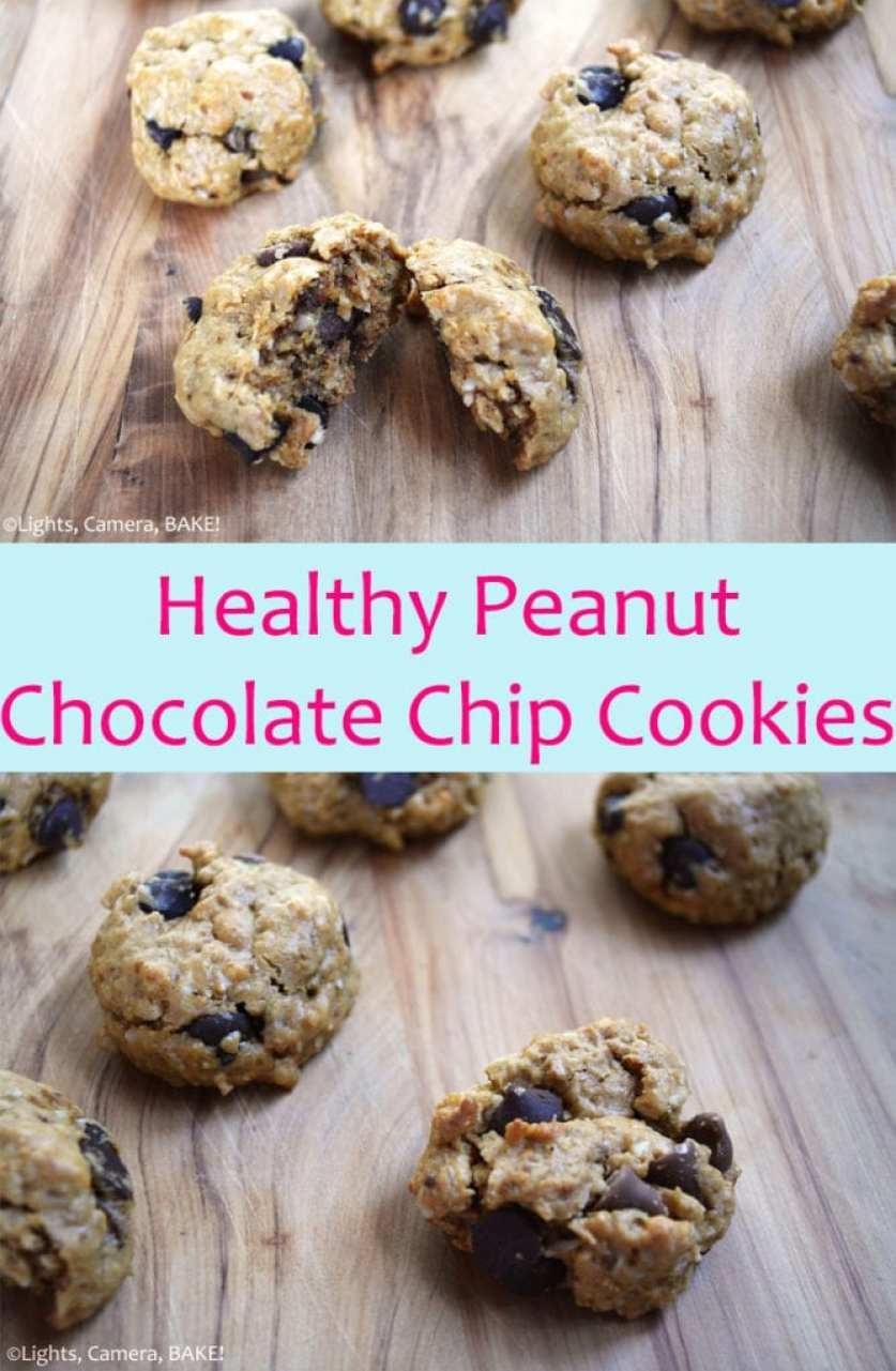 Healthy Peanut Chocolate Chip Cookies (Vegan, Wheat Free, Refined ...