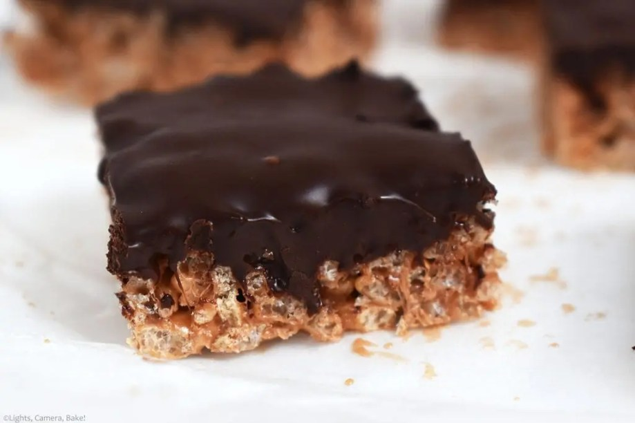 My twist on a classic. Mars Bars Slice. The sticky and sweet rice krispie treat is filled with butter, Mars Bars and marshmallows and topped with a chocolate ganache. Rich, buttery, sugary and no bake, it's no wonder this recipe is a classic!